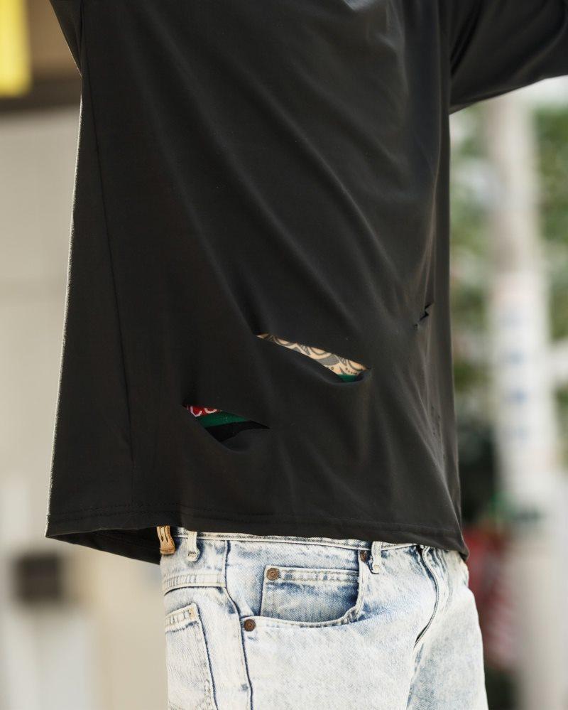 《2色》ベーシックダメージロングTシャツの画像7